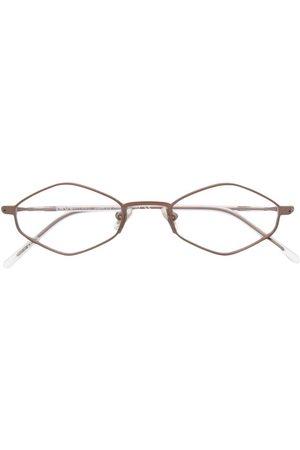 SNOB Geometric-frame clear-lens glasses