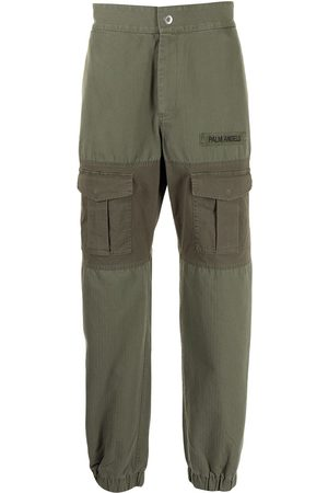 Palm Angels Panelled multi-pocket cargo trousers