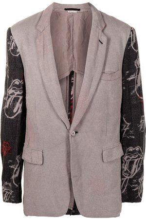Comme des Garçons Tongue-print relaxed-fit blazer