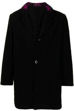 YOHJI YAMAMOTO Intarsia lapel detailing buttoned coat