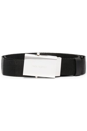 Neil Barrett Engraved logo belt