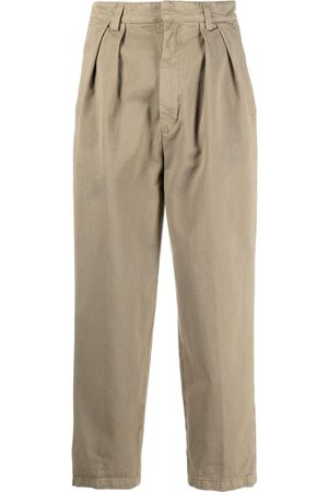 haikure Cropped straight-leg trousers