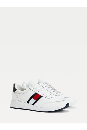 Muži Sportovní boty - Tommy Jeans pánské bílé tenisky FLEXI LYCRA RUNNER
