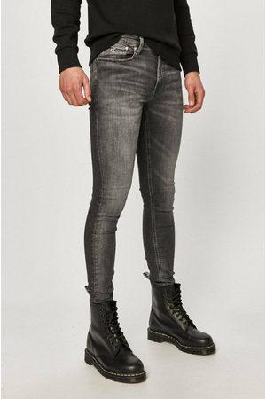 Calvin Klein Muži Džíny - Pánské šedé džíny