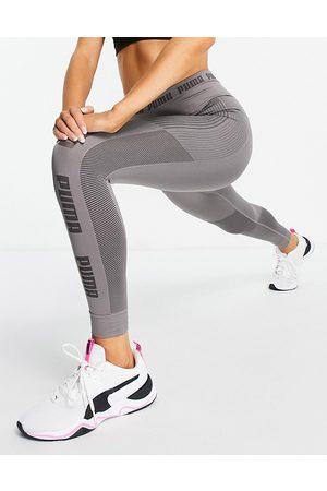Puma Training Evoknit seamless leggings in charcoal grey