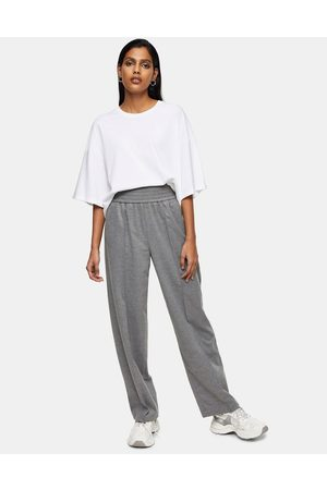 Topshop Flannel suit trousers in light grey