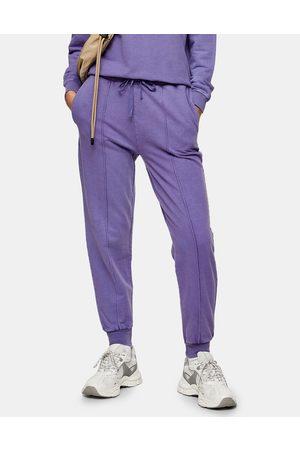 Topshop Acid wash jogger in purple