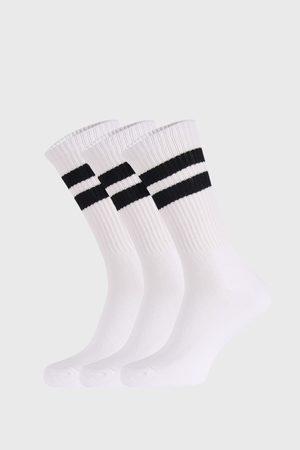 Cotton On Muži Ponožky - 3 PACK bílých ponožek Active