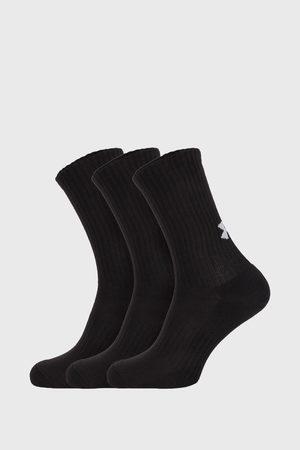 Under Armour 3 PACK vysokých černých ponožek Core