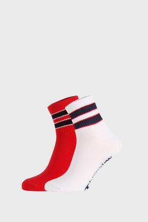 Champion 2 PACK červenobílých ponožek Legacy