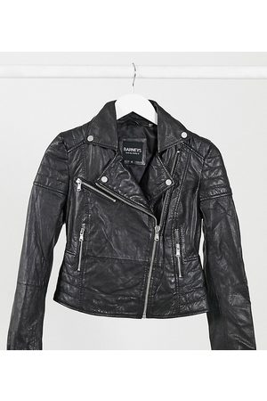 Barney s Original Petite Barney's Originals Petite Clara real leather biker jacket-Black