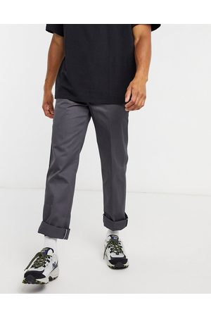 Dickies 873 slim straight fit work trousers in charcoal grey