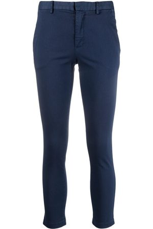 ..,MERCI Cropped slim-fit trousers