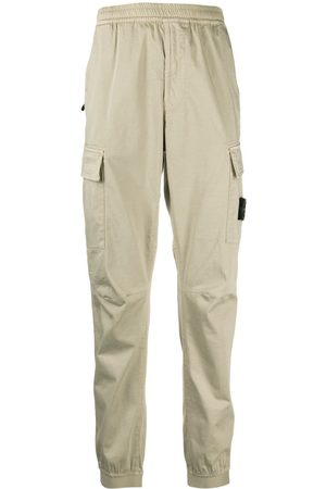 Stone Island Logo-patch detail trousers