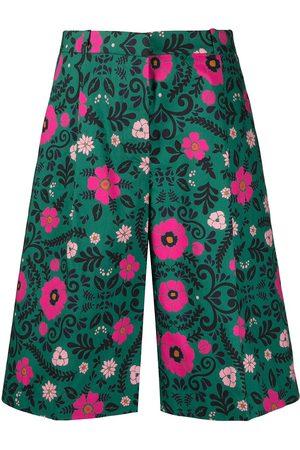 La DoubleJ Ženy Bermudy - Floral-print Bermuda shorts