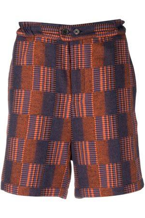 HENRIK VIBSKOV Muži Bermudy - Check knee-length shorts