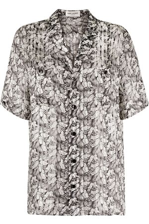 Saint Laurent Leaf pattern short sleeve shirt