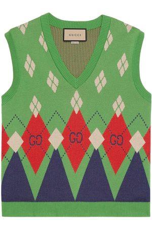 Gucci Muži Vesty - GG argyle knitted vest