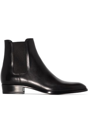 Saint Laurent Wyatt 30mm leather Chelsea boots