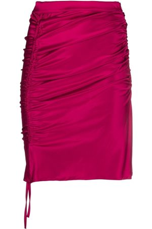 GCDS Drawstring-fastening gathered skirt
