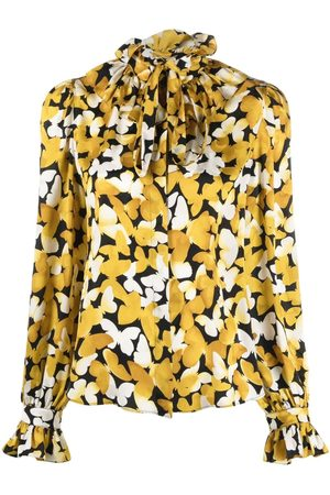 Saint Laurent Butterfly print silk shirt