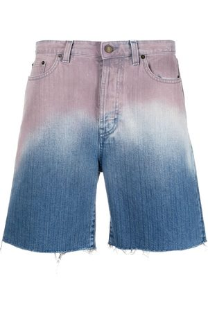 Saint Laurent Muži Kraťasy - Gradient denim shorts