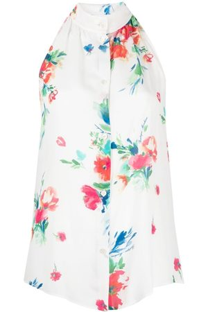 Moschino Floral-print halterneck blouse
