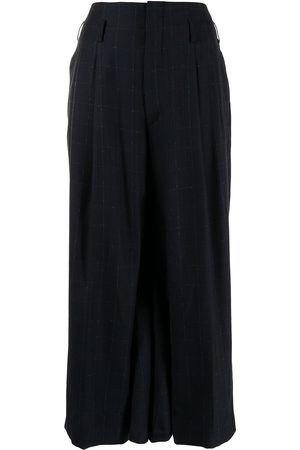 Comme des Garçons Checked wide-legged cropped trousers