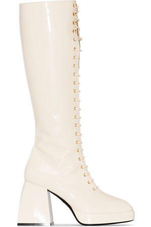 NODALETO Bulla Ward 85mm knee-high boots