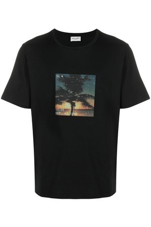 Saint Laurent VHS print short-sleeve T-shirt