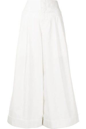 Comme des Garçons Ženy Široké nohavice - High-waisted wide-leg culottes