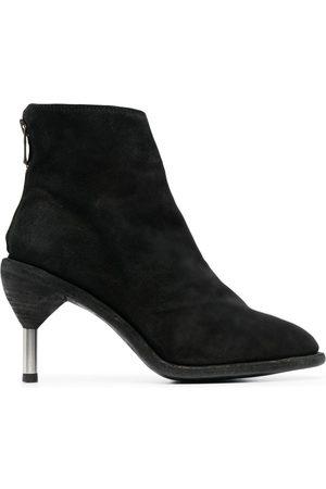 GUIDI Metal-heel suede boots