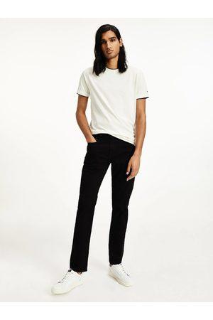 Tommy Hilfiger Muži Rovné nohavice - Pánské černé rovné džíny DENTON