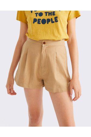 Thinking Mu Camel Hemp Narciso Shorts CAMEL L