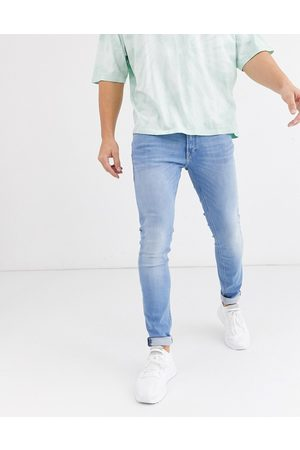 Jack & Jones Muži Skinny - Intelligence Liam skinny fit stretch jeans in light blue