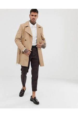 ASOS Shower resistant double breasted trench in stone