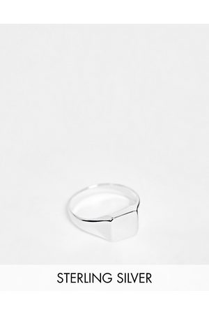 ASOS Muži Prstýnky - Sterling silver pinky signet ring in silver