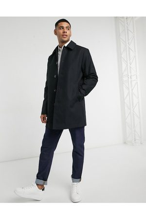 ASOS Shower resistant single breasted trench in black