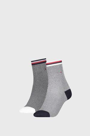 Tommy Hilfiger 2 PACK dámských ponožek Honeycomb Navy
