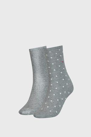 Tommy Hilfiger 2 PACK dámských ponožek Dot Grey
