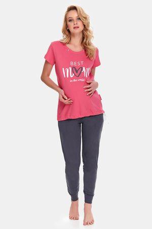 Doctor Nap Ženy Tepláky na spaní - Mateřské kojicí pyžamo Best Mom Rose