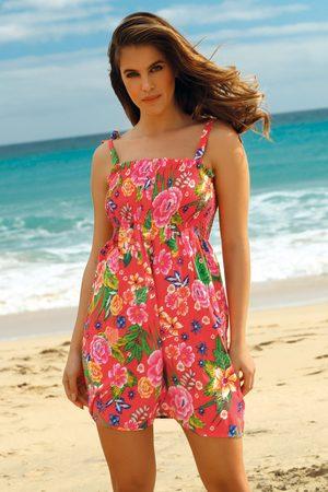 YSABEL MORA Plážové šaty Leafy Coral