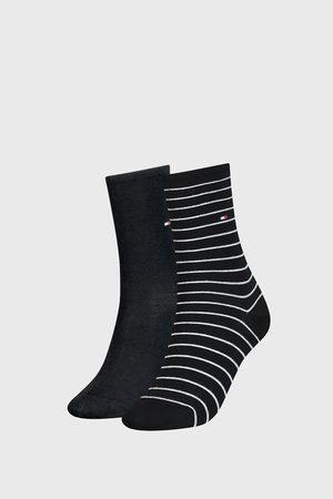 Tommy Hilfiger 2 PACK dámských ponožek Small Stripe Black