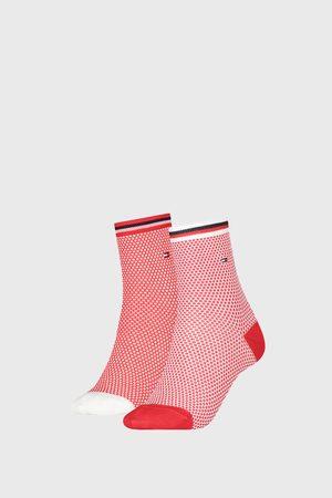 Tommy Hilfiger 2 PACK dámských ponožek Honeycomb Red