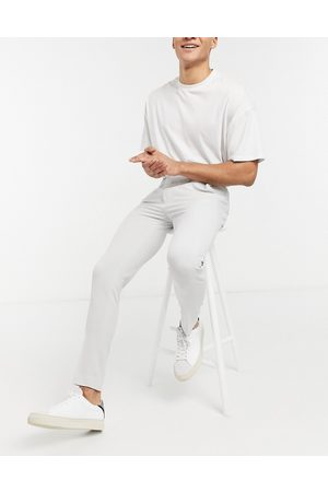 ASOS Super skinny suit trousers in ice grey