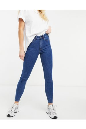 ASOS High rise ridley 'skinny' jeans in midwash-Blue