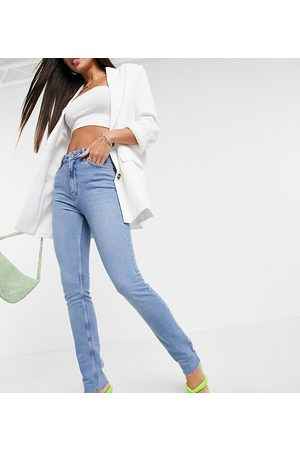 adidas ASOS DESIGN Tall vintage 'skinny' jeans in pretty midwash-Blue
