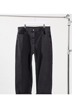COLLUSION Plus x014 dad jeans in washed black
