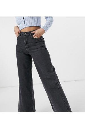 COLLUSION X008 wide leg jeans in washed black