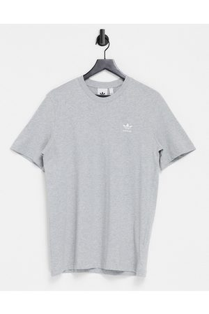 adidas Essentials t-shirt in grey heather with small logo